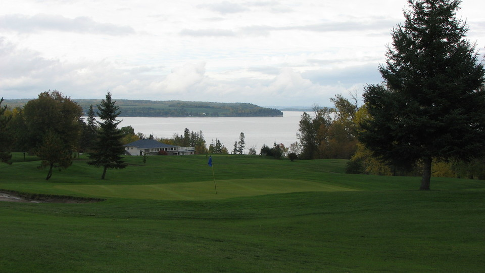 Views  of Lake Temiskaming from the Club house's patio