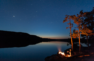 Canoe camping on Lake Temagami