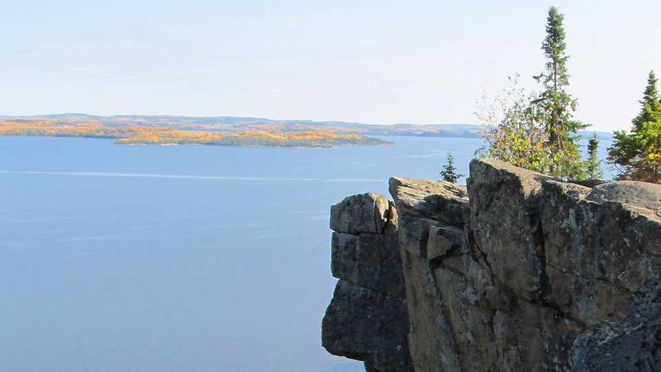 A view from the cliffs of Lake Temiskaming