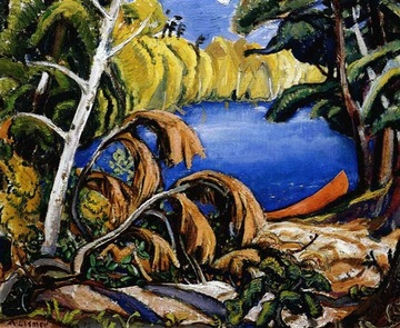 Arthur Lismer, Temagami Portage, 1945, oil on canvas